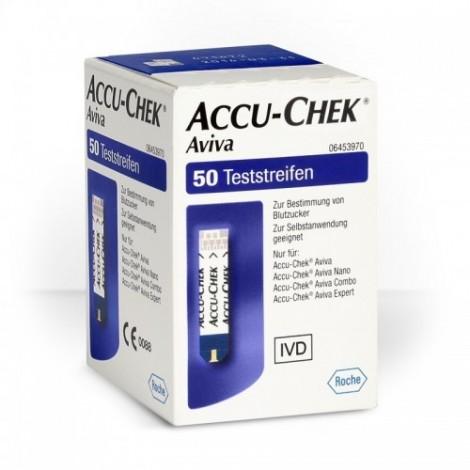 Accu-チェクインアビバの試験紙50枚