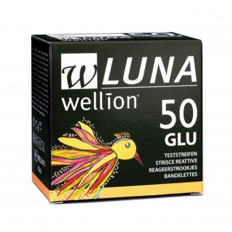 Wellion Luna Tiras De Teste De 50 Peças