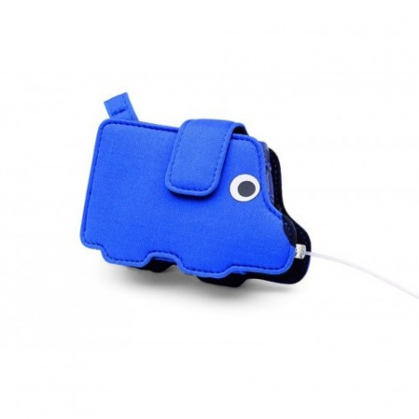 Blue dog pump bag for children blue for Accu-Chek Spirit / Spirit Combo