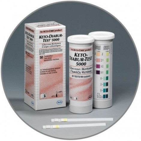 Кето-Diabur-Тест 5000 (Глюкоза, Кетоны) 50 Шт