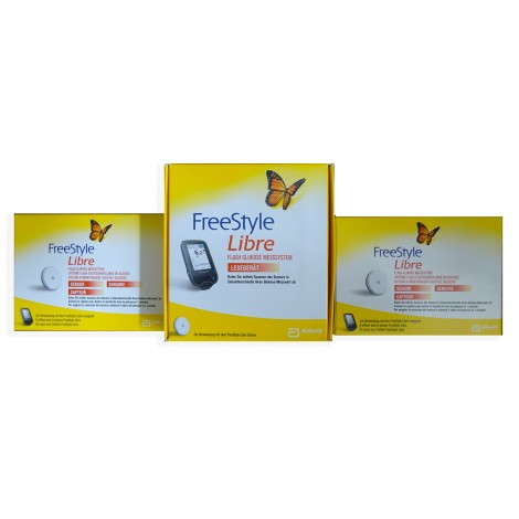 Freestyle Libre Reader mg/dL + 2 Sensors Blood Glucose Meters