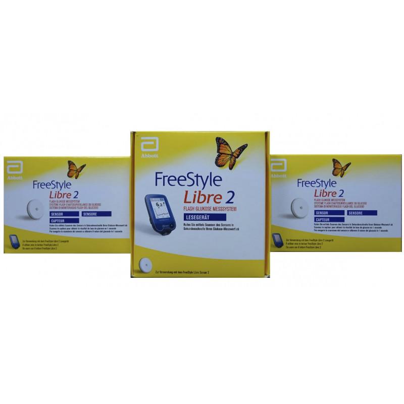 Freestyle Libre-2-Lectores mmol/L + 2 Sensores de glucosa en ...