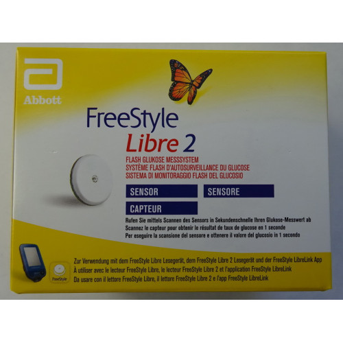 1 Sensor Freestyle Libre Lesegerät mg/dL oder mmol/L