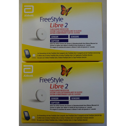 Freestyle Libre Reader mg/dL + 2 Sensors Blood Glucose Meters