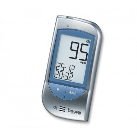 Beurer GL34mg/dLと血液の血糖値のモニタリングシステム