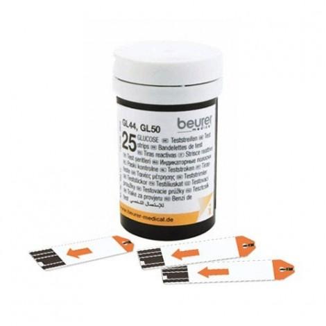 beurer GL 44, GL 50, GL 50 evo الجلوكوز في الدم شرائط الاختبار 50 قطعة