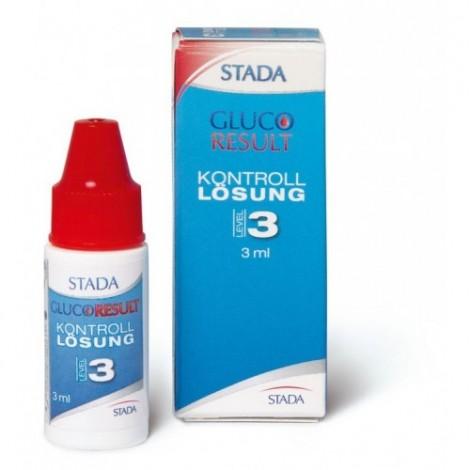STADA Gluco Resultado da solução de controle de Nível 3, 3ml