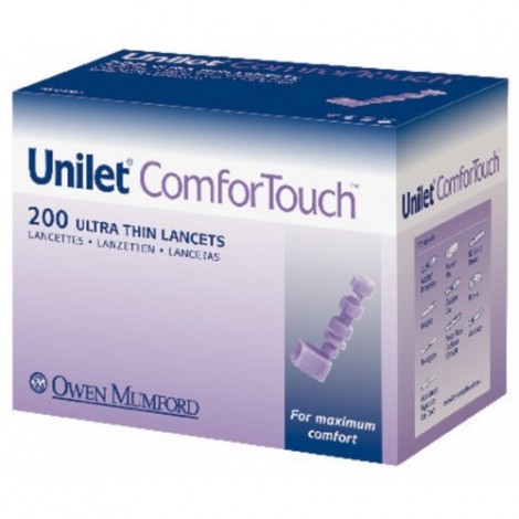 Unilet ComforTouch المشارط 200 قطعة