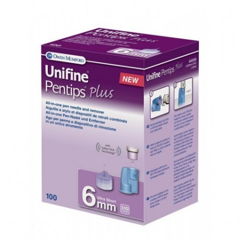 Unifine Pentips Plus Ultra قصيرة 6 مم
