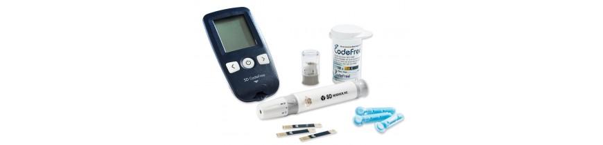 付属の血糖値測定